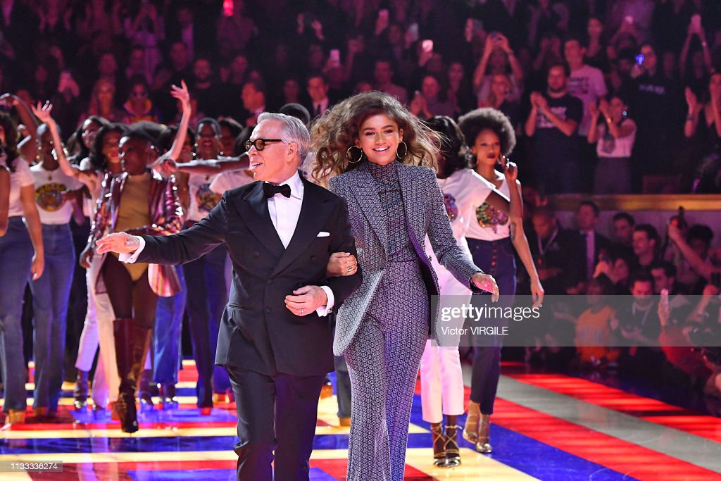 Tommy Hilfiger TOMMYNOW Spring/Summer 2019 : TommyXZendaya Premieres - Runway At The Theatre Des Champs Elysees In Paris : News Photo
