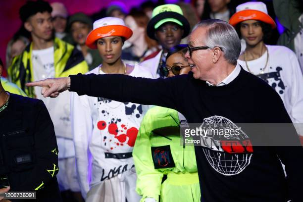 Fashion designer Tommy Hilfiger at the TommyNow show during London Fashion Week February 2020 at the Tate Modern on February 16, 2020 in London,...