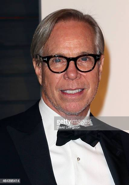 Fashion designer Tommy Hilfiger attends the 2015 Vanity Fair Oscar Party hosted by Graydon Carter at the Wallis Annenberg Center for the Performing...