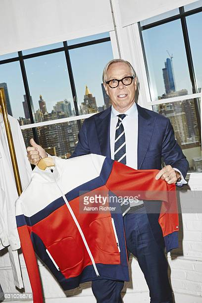 Fashion designer Tommy Hilfiger is photographed for Rhapsody Magazine on August 3 2016 in his showroom in New York City