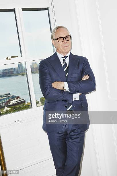 Fashion designer Tommy Hilfiger is photographed for Rhapsody Magazine on August 3, 2016 in his showroom in New York City.
