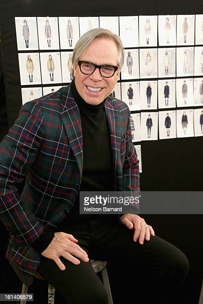 Fashion designer Tommy Hilfiger poses backstage at the Tommy Hilfiger Fall 2013 Women's Collection fashion show during MercedesBenz Fashion Week at...