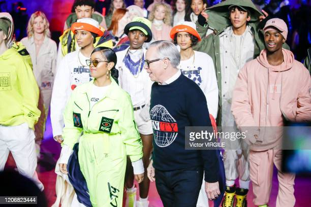 Fashion designer Tommy Hilfiger walks the runway at the Tommy Hilfiger Ready to Wear Spring/Summer 2020 fashion show during London Fashion Week on...