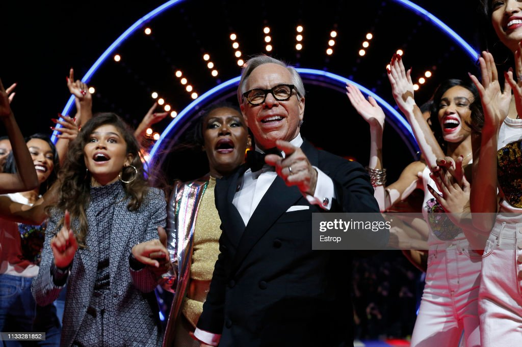 Tommy Hilfiger TOMMYNOW Spring 2019 : TommyXZendaya Premieres : Runway At The Theatre Des Champs Elysees In Paris : News Photo