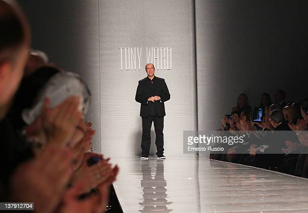 Fashion designer Tony Ward during his collection S/S 2012 fashion show as part of the AltaRoma at Santo Spirito In Sassia on January 29, 2012 in...