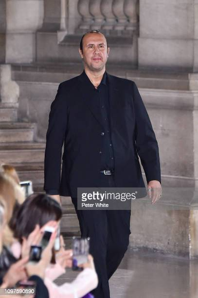 Fashion designer Tony Ward walks the runway during the finale of Tony Ward Spring Summer 2019 show as part of Paris Fashion Week on January 21, 2019...