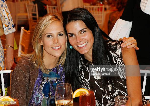 Fashion designer Tory Burch and actress Angie Harmon attend The CHIPS Spring Luncheon and Fashion Show Honoring Tory Burch at the Beverly Hills Hotel...