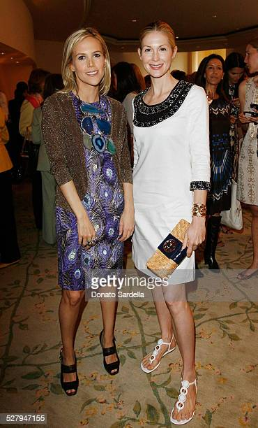 Fashion designer Tory Burch and actress Kelly Rutherford attend The CHIPS Spring Luncheon and Fashion Show Honoring Tory Burch at the Beverly Hills...