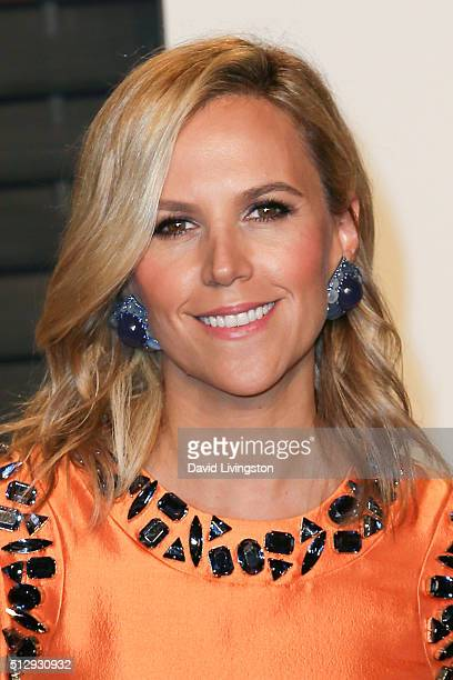 Fashion designer Tory Burch arrives at the 2016 Vanity Fair Oscar Party Hosted by Graydon Carter at the Wallis Annenberg Center for the Performing...