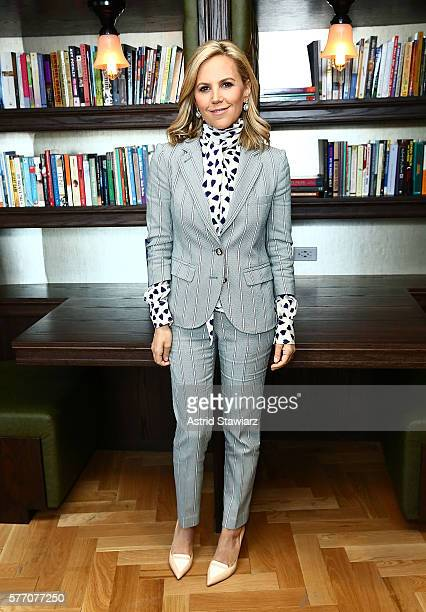 Fashion designer Tory Burch visits LinkedIn for an interview with Executive Editor at LinkedIn Daniel Roth at LinkedIn Studios on May 9 2016 in New...