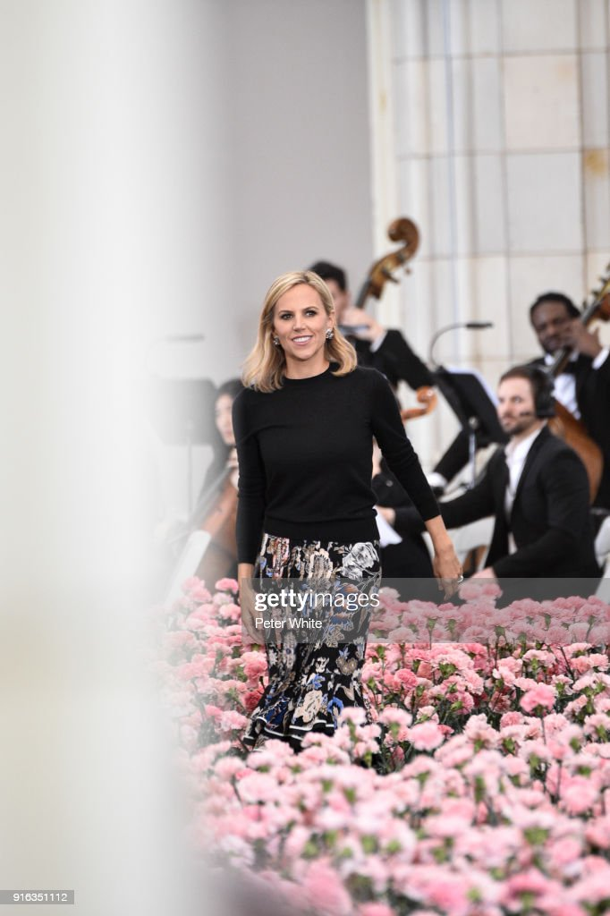 Fashion designer Tory Burch walks the runway at the Tory Burch Fall Winter 2018 Fashion Show during New York Fashion Week at Bridge Market on February 9, 2018 in New York City.
