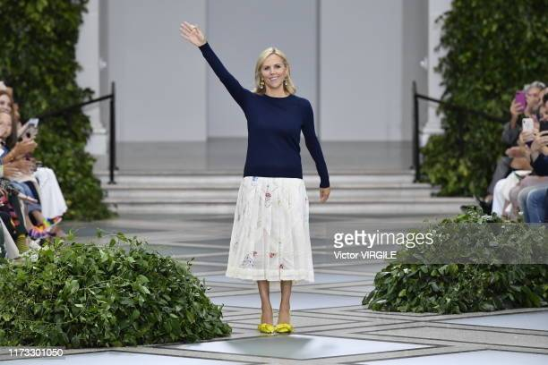Fashion designer Tory Burch walks the runway at the Tory Burch Ready to Wear Spring/Summer 2020 fashion show during New York Fashion Week on...
