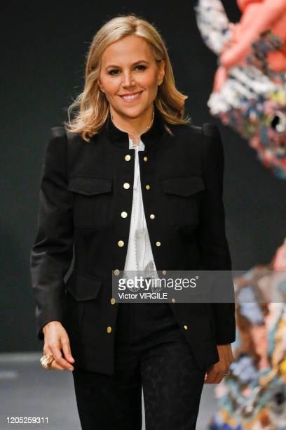 Fashion designer Tory Burch walks the runway at the Tory Burch Ready to Wear Fall/Winter 2020-2021 fashion show during New York Fashion Week on...