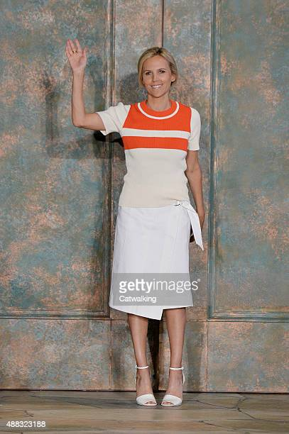Fashion designer Tory Burch walks the runway at the Tory Burch Spring Summer 2016 fashion show during New York Fashion Week on September 15, 2015 in...
