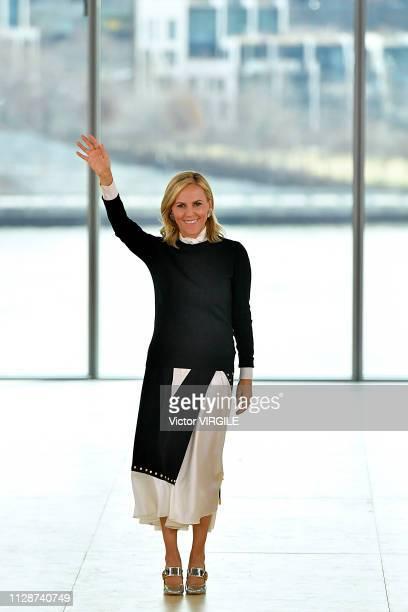 Fashion designer Tory Burch walks the runway for the Tory Burch Ready to Wear Fall/Winter 2019-2020 fashion show during New York Fashion Week on...