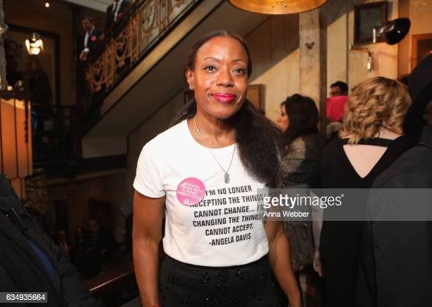 Fashion designer Tracy Reese attends Mary Kay at Tracy Reese F/W'17 presentation and backstage on February 12 2017 in New York City