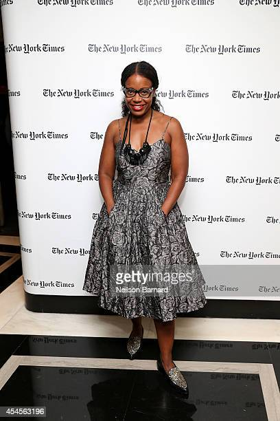 Fashion designer Tracy Reese attends the New York Times Vanessa Friedman and Alexandra Jacobs welcome party on September 3 2014 in New York City