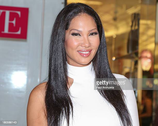 Fashion Designer / TV Personality Kimora Lee Simmons attends the JustFab boutique flagship store grand opening at JustFab Store in the Glendale...