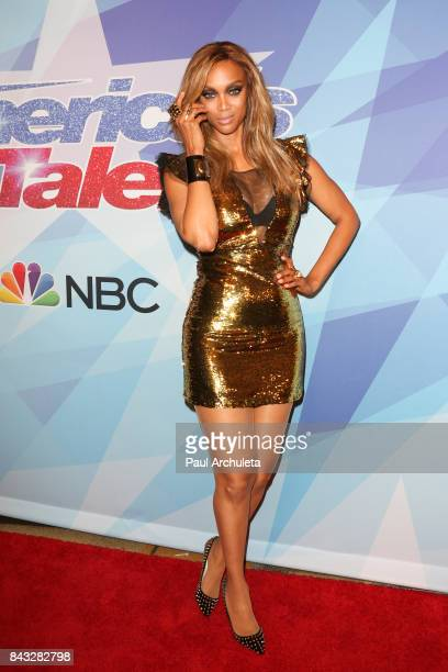 Fashion Designer / TV Personality Tyra Banks attends the NBC's 'America's Got Talent' season 12 live show at Dolby Theatre on September 5 2017 in...