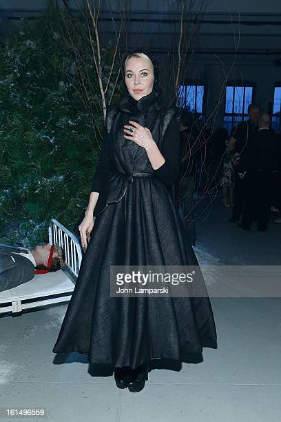 Fashion Designer Ulyana Sergeenko attends Thom Browne during Fall 2013 MercedesBenz Fashion Week on February 11 2013 in New York City