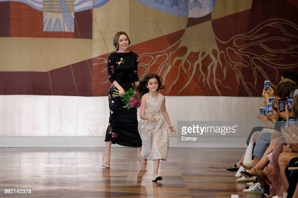 FAshion designer Ulyana Sergeenko during the Ulyana Sergeenko Haute Couture Fall Winter 2018/2019 show as part of Paris Fashion Week on July 3 2018...