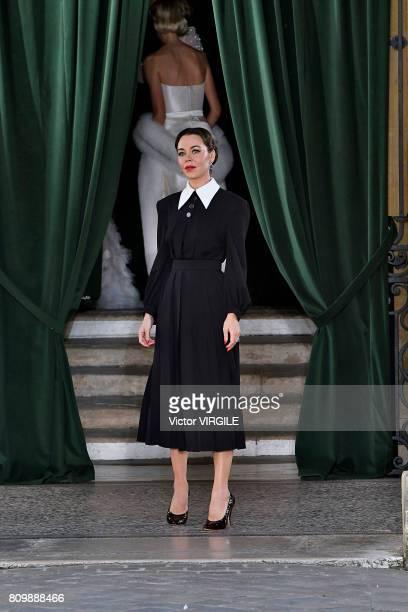 Fashion designer Ulyana Sergeenko walks the runway during the Ulyana Sergeenko Haute Couture Fall/Winter 20172018 show as part of Haute Couture Paris...