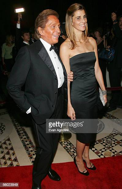 Fashion designer Valentino arrives with Rosario of Bulgaria to Fashion Group International's 22nd Annual 'Night Of Stars' held at Cipriani's 42nd...