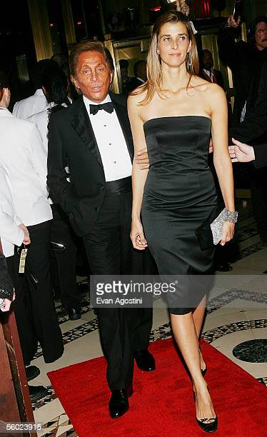 Fashion designer Valentino arrives with Rosario of Bulgaria to the Fashion Group International's 22nd Annual 'Night Of Stars' held at Cipriani's 42nd...