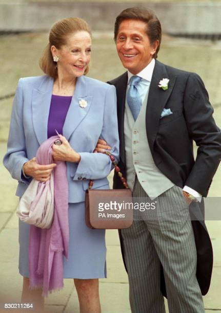 Fashion designer Valentino arriving at Kenwood House for the reception following the wedding of Princess Alexia of Greece to Carlos Morales Quintana...