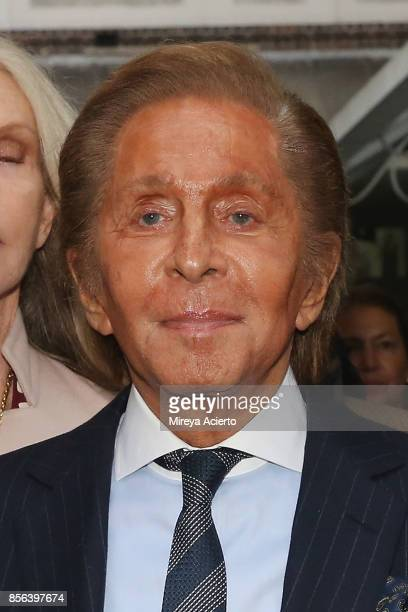 Fashion designer Valentino attends the Valentino show as part of the Paris Fashion Week Womenswear Spring/Summer 2018 on October 1 2017 in Paris...