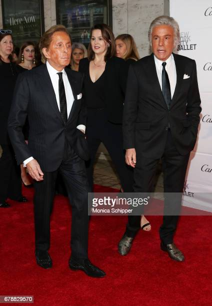 Fashion designer Valentino Garavani and Giancarlo Giammetti attend the New York City Ballet 2017 Spring Gala at David H Koch Theater at Lincoln...