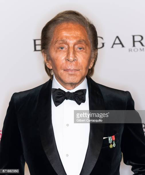 Fashion designer Valentino Garavani attends as the Elton John AIDS Foundation commemorates its 25th year and honors founder Sir Elton John during the...