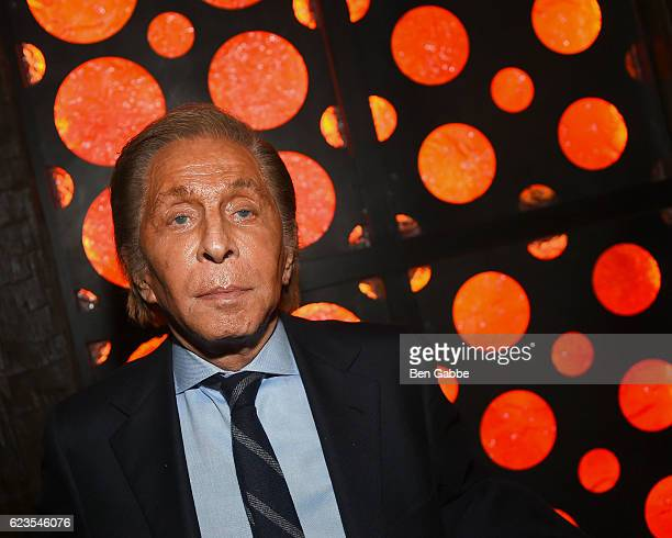 Fashion designer Valentino Garavani attends the after party of Allied hosted by Paramount Pictures The Cinema Society Chandon at iPic Fulton Market...
