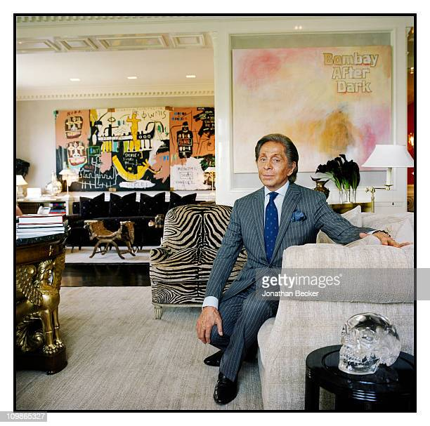Fashion designer Valentino is photographed at home for Vanity Fair Magazine on May 26 2010 in New York City Published image PUBLISHED IN JONATHAN...