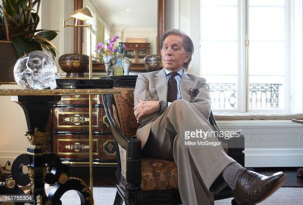 Fashion designer Valentino is photographed for the London Times on May 20 2010 in New York City