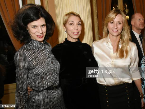 Fashion designer Vanessa Seward Mathilde Favier Meyer and interior designer Sarah Lavoine attend the 'Vogue Fashion Festival' Opening Dinner on...