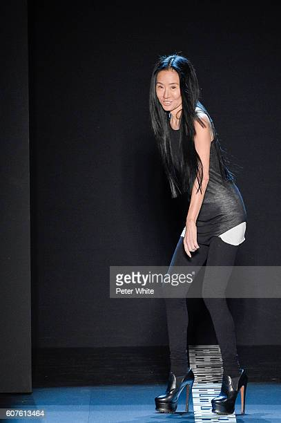 Fashion Designer Vera Wang acknowledges the applause of the audience after the Vera Wang Collection Women's Fashion Show during New York Fashion Week...