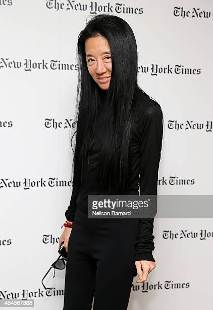 Fashion designer Vera Wang attends the New York Times Vanessa Friedman and Alexandra Jacobs welcome party on September 3 2014 in New York City