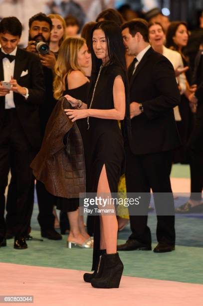 Fashion designer Vera Wang enters the CFDA Fashion Awards at Hammerstein Ballroom on June 5 2017 in New York City