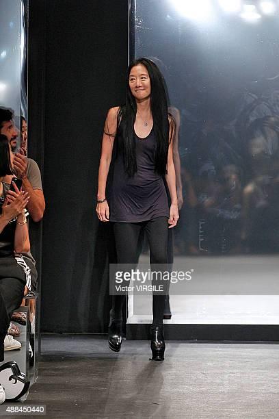 Fashion designer Vera Wang walks the runway at the Vera Wang Collection Spring Summer 2016 fashion show during New York Fashion Week on September 15...