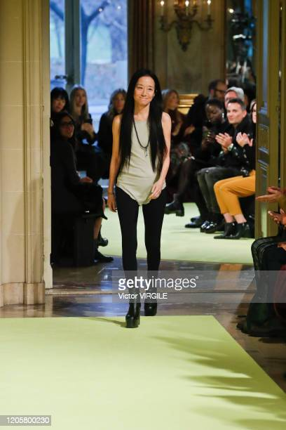 Fashion designer Vera Wang walks the runway for the Vera Wang Ready to Wear Fall/Winter 2020-2021 fashion show during New York Fashion Week on...