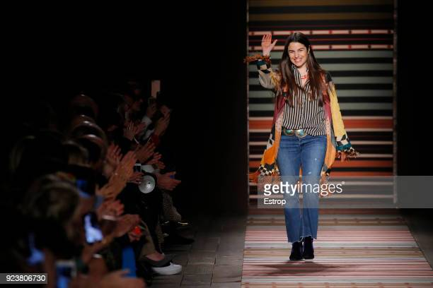 Fashion designer Veronica Etro at the Etro show during Milan Fashion Week Fall/Winter 2018/19 on February 23 2018 in Milan Italy