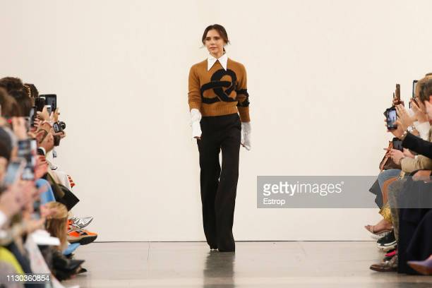 Fashion designer Victoria Beckham at the Victoria Beckham show during London Fashion Week February 2019 on February 17 2019 in London England