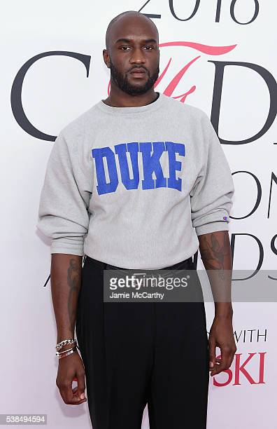 Fashion designer Virgil Abloh attends the 2016 CFDA Fashion Awards at the Hammerstein Ballroom on June 6, 2016 in New York City.
