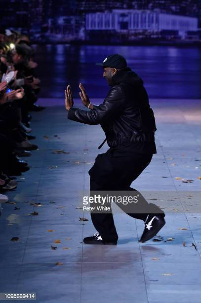 Fashion designer Virgil Abloh walks the runway during the finale of Louis Vuitton Menswear Fall/Winter 20192020 show as part of Paris Fashion Week on...