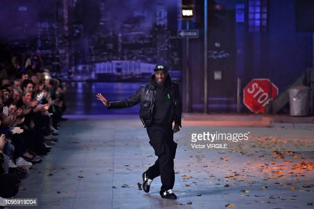 Fashion designer Virgil Abloh walks the runway during the Louis Vuitton Menswear Fall/Winter 20192020 fashion show as part of Paris Fashion Week on...