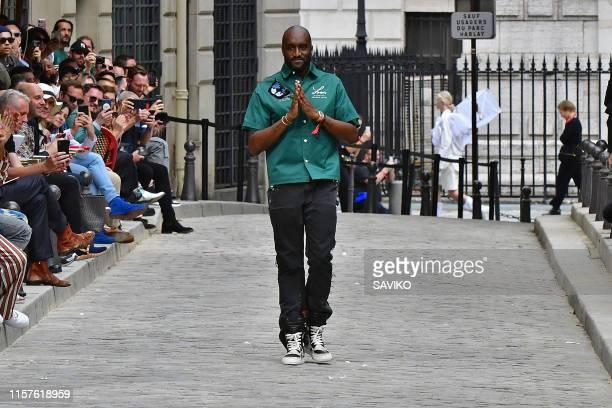 Fashion designer Virgil Abloh walks the runway during the Louis Vuitton Menswear Spring Summer 2020 fashion show as part of Paris Fashion Week on...