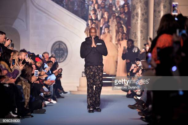 Fashion designer Virgil Abloh walks the runway during the OffWhite show as part of the Paris Fashion Week Womenswear Fall/Winter 2018/2019 on March 1...