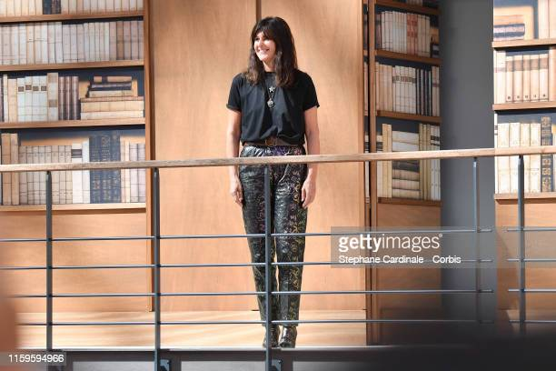 Fashion designer Virginie Viard acknowledges the audience during the Chanel Haute Couture Fall/Winter 2019 2020 show as part of Paris Fashion Week on...