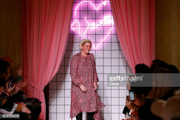 Fashion designer Vivetta Ponti at the Vivetta show during Milan Fashion Week Fall/Winter 2018/19 on February 22, 2018 in Milan, Italy.
